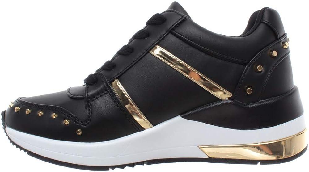 Guess Sneakers Femme FL7JODELE12 Cuir Synthétique Noir Noir