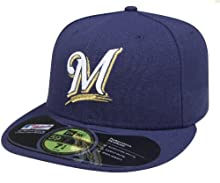MLB Milwaukee Brewers Game AC On Field 59Fifty Fitted Cap-712