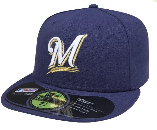 MLB Milwaukee Brewers Game AC On Field 59Fifty Fitted Cap-714