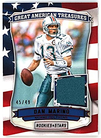 5e2be3b91 Dan Marino 2016 Panini Rookies   Stars Great American Treasures Jersey  26  NM-MT