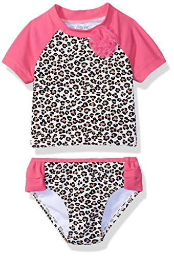 Little Me Baby Girls' Two-Piece Rashguard Swimsuit UPF 50+ , Multi, 24 Months