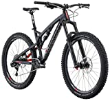 Diamondback Bicycles Diamondback Release 1 Full Suspension Mountain Bike, 17″/Medium, Silver/Black