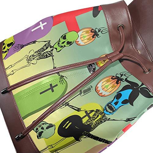 Bolso Piel Única De Multicolor Para Talla Mochila Mujer Dragonswordlinsu d6Hnvd