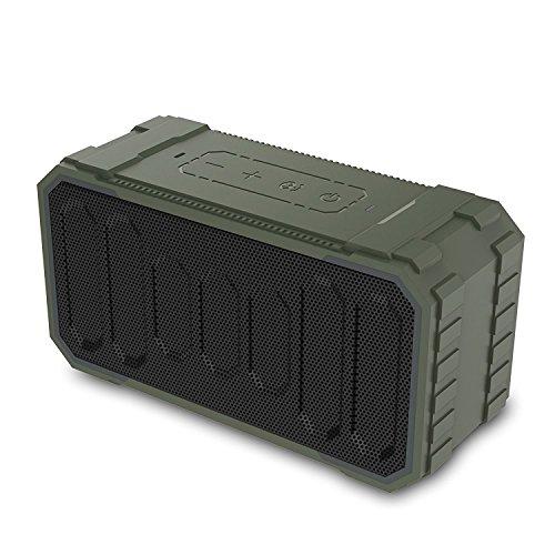 Matacol Outdoor Speaker IPX6 Waterproof Stereo Sound Bluetooth Speakers Wireless Portable Speakers Army Green