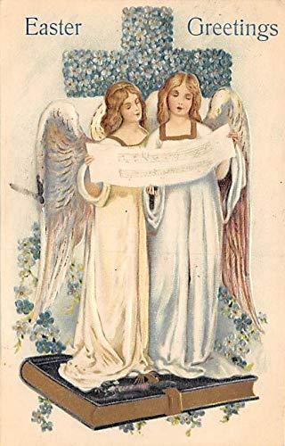 Angel Post Card, Angles Postcard Easter Greetings 1907