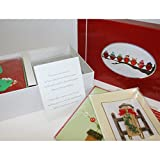 Burgoyne 27 Elegant Hand Crafted Holiday Cards with Matching Self-Seal Envelopes