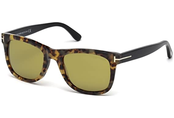 Tom Ford gafas de sol FT0336 SUNGLASS PAN HAVANA WITH GREEN ...