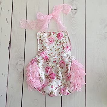 Bubble Bloomers, body FrouFrou, Modelo floral encaje en tonos suaves 0/6 Meses 0/3 meses, 3/6 Meses, 6/9 Meses, 12/18 Meses, 18/24 Meses multicolor multicolor Talla:0/ 3 mois