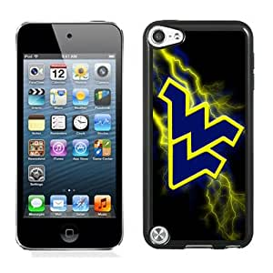 Fashionable And Unique Designed With NCAA Big 12 Conference Big12 Football West Virginia Mountaineers 8 Protective Cell Phone Hardshell Cover Case For iPod 5 Phone Case Black
