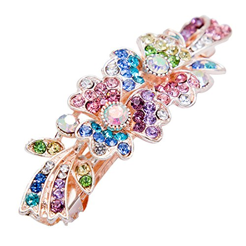 Hairpins Hair Clips for Women Metal Clips NEW New Fashion Flower Crystal Hairpin Colorful Girls Horseshoe Hairpin Multi