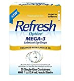 Refresh Optive Mega-3 Lubricant Eye Drops, 30 Single-Use Sterile Containers (2)