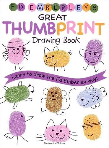amazon ed emberley s great thumbprint drawing book ed emberley s