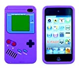 iTitan Plum Skin Purple {Classic Game Boy} Soft and Smooth Silicone Cute 3D Fitted Bumper Gel Case for iPod 4 (4G) 4th Generation iTouch by Apple 'Durable and Slim Flexible Fashion Cover with Amazing and Creative Cartoon Design'