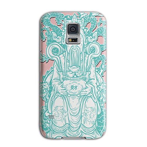 [Ancient Empire Man Oriental God NEW Black 3D Samsung Galaxy S5 Case | Wellcoda] (China National Costume Name)