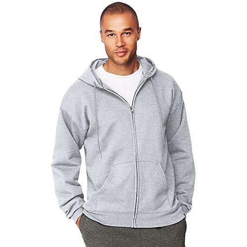 Garment Cotton Ultimate (Hanes Mens Ultimate Cotton® Heavyweight Full Zip Hoodie, Ash, XX-Large)