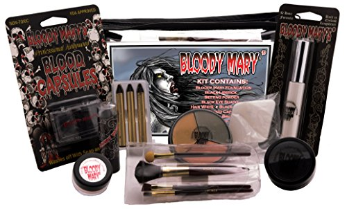 Brush With Death Costume (Bobbie Weiner Bloody Mary Professional Character Makeup Kit)