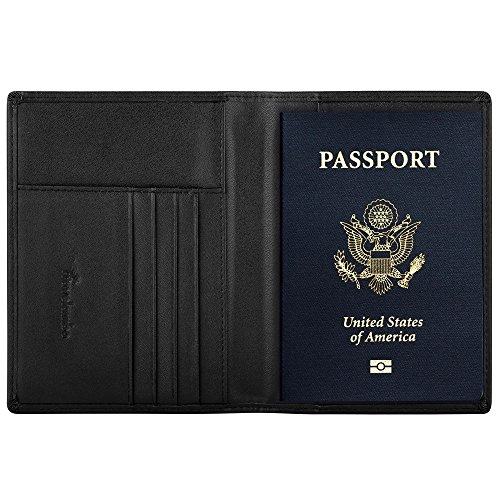 Travelambo RFID Blocking Genuine Leather Passport Holder Wallet in 7 Colors