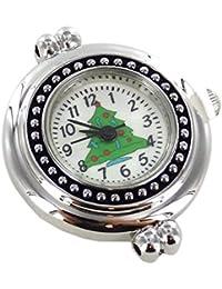 "Christmas Tree Interchangeable Watch Face, 1"", Silver/Green/Black"