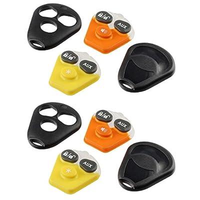 Key Fob Keyless Entry Remote shell Case & Pad fits Viper EZSDEI474V - 3 Button, Set of 2: Automotive