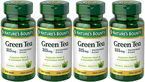 (Nature's Bounty Green Tea Extract, 315mg, 400 Capsules (4 X 100 Count Bottles))
