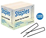 Sandbaggy 1000 Count 6'' Landscape Staples ~ SOD Staples Garden Stakes Square Pin
