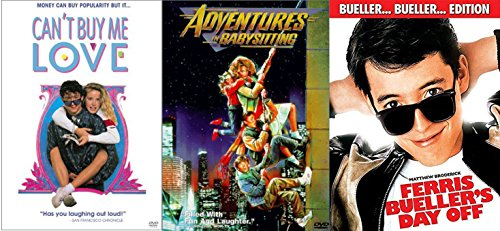 Ferris Bueller's Day Off & Adventures in Babysitting + Can't Buy Me Love... Fun Comedy 80's High School Teen movie Set