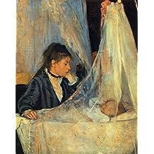 The Museum Outlet - 1872 Berthe Morisot Le Berceau PEINTURE HUILE SUR TOILE 56x46 cm - Canvas Print Online Buy (24 X 32 Inch)