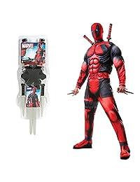 Deadpool Deluxe Adult Costume Bundle Set - Standard