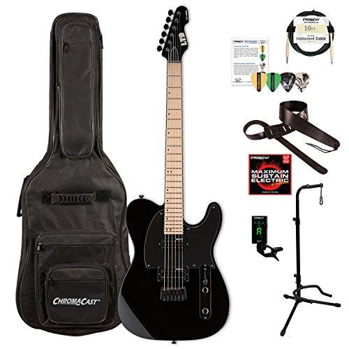 ESP LTE200MBLK-KIT-1 TE Series TE-200 MAPLE Electric Guitar, Black