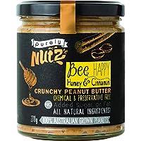 Purely Nutz Honey and Cinnamon Crunchy Peanut Butter, 270 g