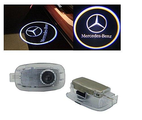 2007 Mercedes Benz Cl (Kaizen Mercedes Benz S CL Class Door Step Courtesy Welcome Light White Logo)
