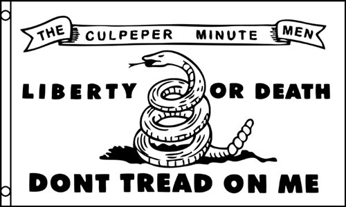 3'x5' CULPEPER MINUTE MEN DON'T TREAD ON ME Polyester Flags