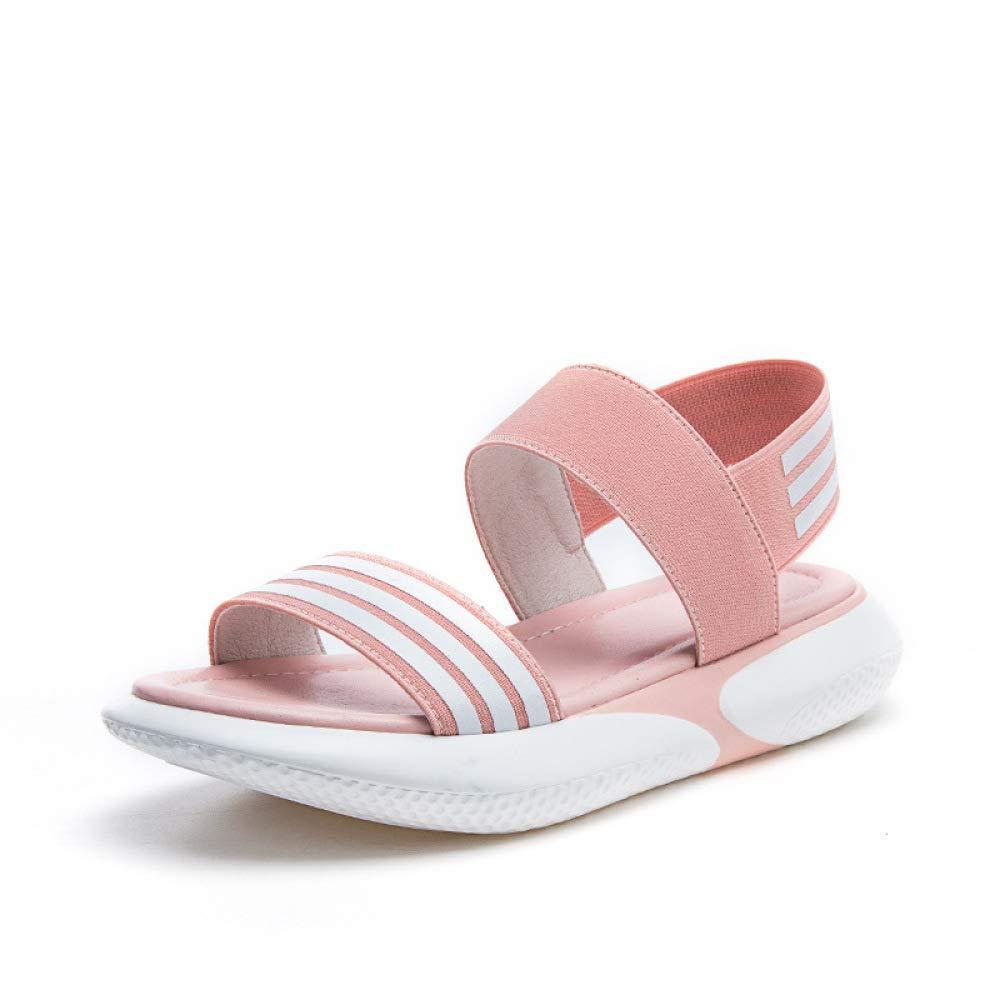 Oudan Sandali Sandali Sandali Sportivi Estivi per Le Donne - Comoda Piattaforma Elastica Sandali per Studenti Scarpe Piatte Versatili Piattaforma Elastica con Sandali (colore   rosa, Dimensione   42) d9743d