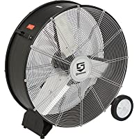 Strongway Open Motor Direct-Drive Drum Fan - 30in., 1/4 HP, 9000 CFM