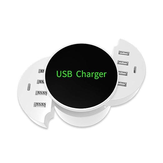 GNB Cargador USB Hub Qi inalámbrico Plegable, USB 8 Puertos ...