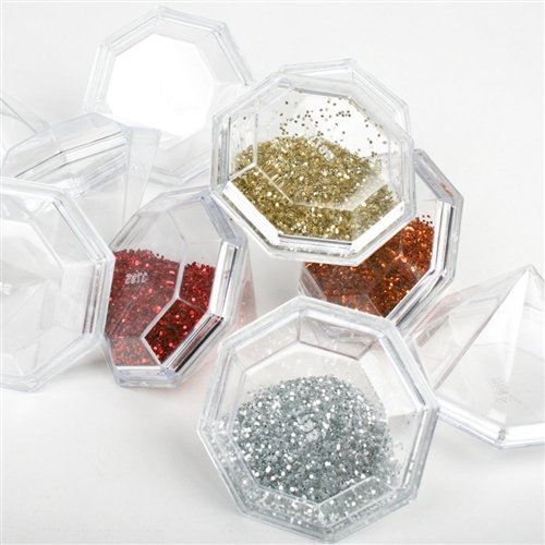 Firefly Imports Fillable Plastic Diamond Shaped Container, -