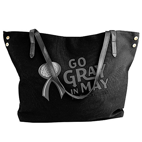 Tumors Handbag May Hand Gray Large Women's Go In Shoulder Canvas Black Bag Tote Brain 1xIwfwvaq
