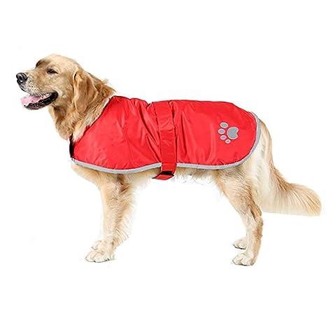 Morezi - Chaleco Impermeable Resistente al Viento Reversible para Perro, Abrigo de Invierno cálido,