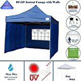 10'x10′ Pop up 4 Wall Canopy Party Tent Gazebo EZ Navy Blue – E Model / By DELTA Canopies Review