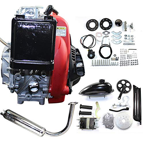 Motorized Bicycle Kit Bike Engine Kit Single Cylinder 49CC 4-Stroke 142F Air-cooled System w/Double Chain Drive Fits normal 28