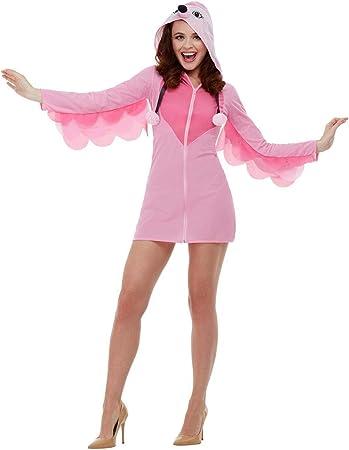 Smiffys Flamingo Costume Disfraz de flamenco, color rosa, S-UK ...