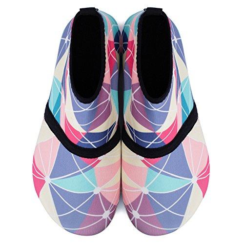 Piel L Dive descalza Zapatos Zapatos Unisex Geometría Run para Swim de Yoga Alta Beach de Run Agua Surf prqr80XwP