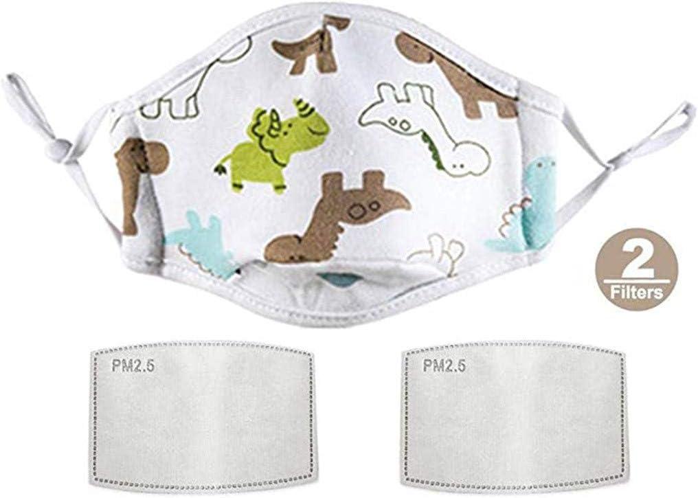 JIUDASG Kids Children Cotton Face Shield Dust Cover Reusable 2 Gaksets