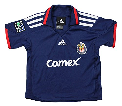 Club Deportivo Chivas USA MLS Toddlers Away Replica Jersey Polo Top, Blue (4T, Blue)