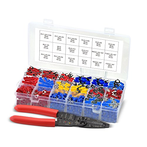 Crimping Tool Kit (Approved for Automotive AFA Wire Crimping Tool & Crimp Connector Kit - 520 Pieces w/Organizer)