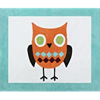 Sweet Jojo Designs Turquoise and Lime Hooty Owl Accent Floor Rug