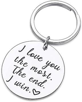 Amazon.com: Llavero para pareja, regalo para él o para novia ...