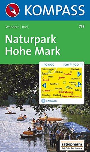 Naturpark Hohe Mark: Wanderkarte mit Kurzführer und Radrouten. 1:50000 (KOMPASS-Wanderkarten, Band 753)