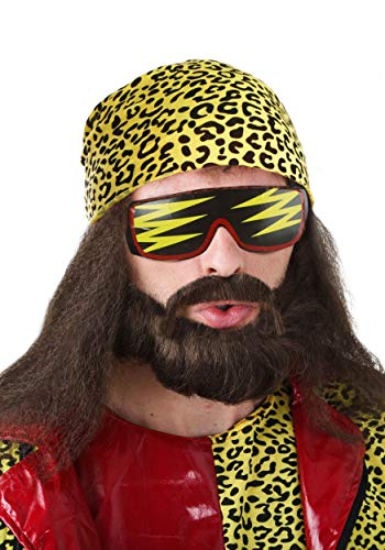 Fun Costumes Randy Savage Wig Kit Standard Yellow