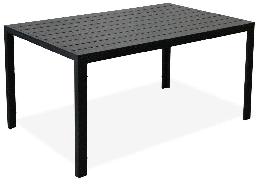 KMH®, Alu-Gartentisch *Tuco* schwarz 150 x 90 cm (#106036)
